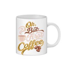 cana personalizata interior rosu coffee first- personalizari Ploiesti