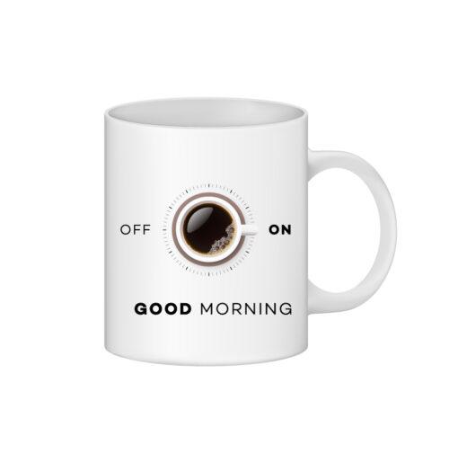 cana personalizata interior rosu good morning- personalizari Ploiesti