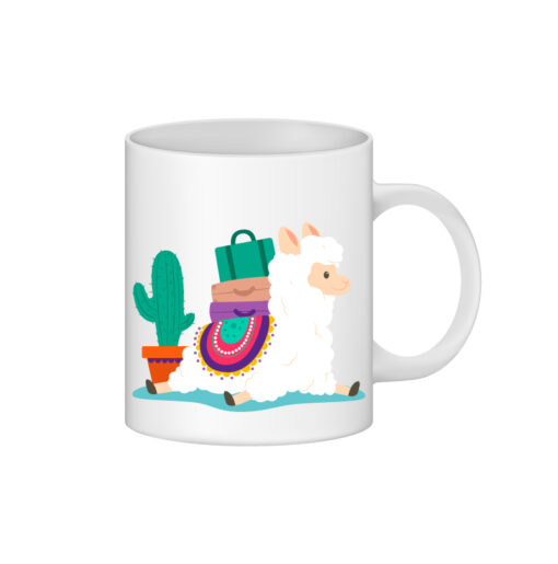 cana alba personalizata alpaca si cactus - personalizari ploiesti