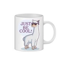 cana alba personalizata alpaca just be cool - personalizari ploiesti